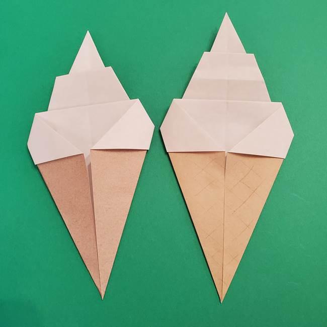 ソフトクリームの折り紙は簡単!コーンつきだから子供も喜ぶ♪