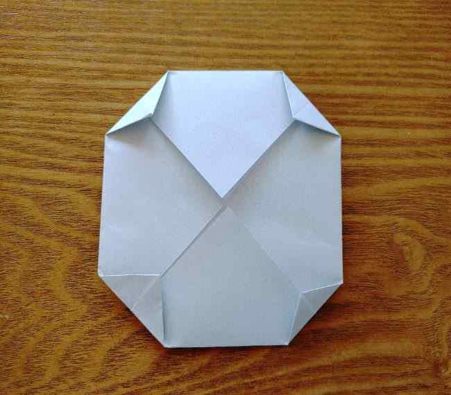 トーマスのメダルの折り紙*作り方折り方 (6)