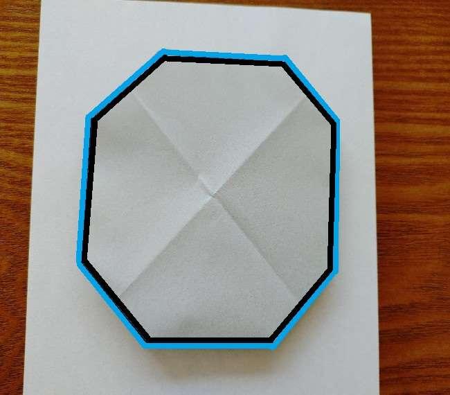 トーマスのメダルの折り紙*作り方折り方 (7)