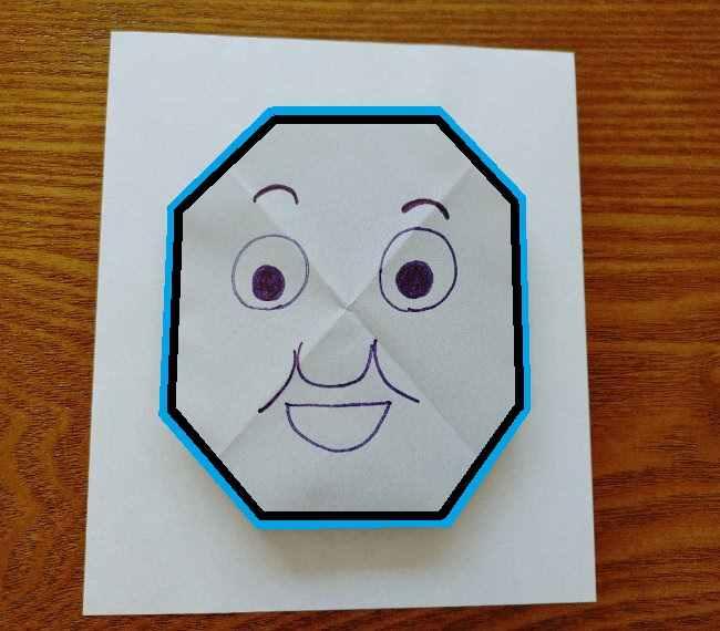 トーマスのメダルの折り紙*作り方折り方 (8)