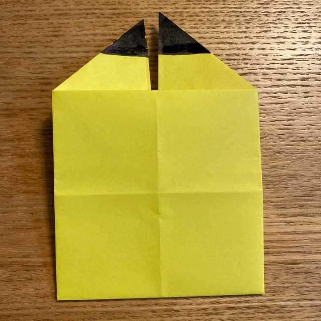 ピカチュウの指人形の折り紙*折り方作り方 (15)