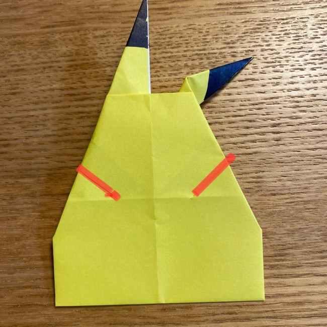 ピカチュウの指人形の折り紙*折り方作り方 (22)