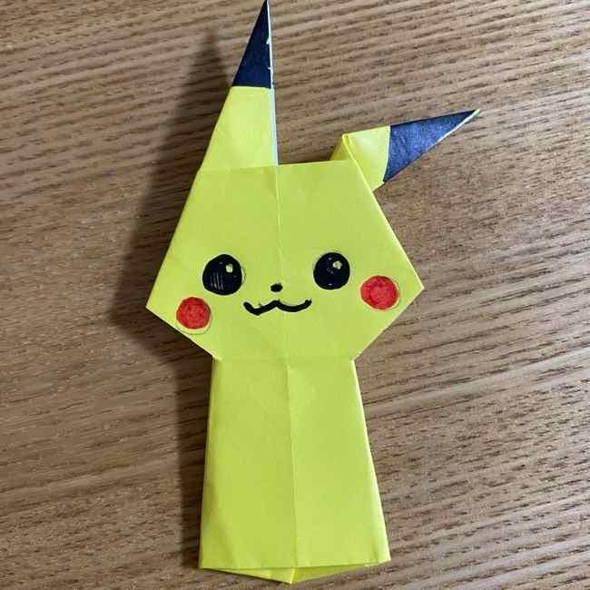 ピカチュウの指人形の折り紙*折り方作り方 (26)