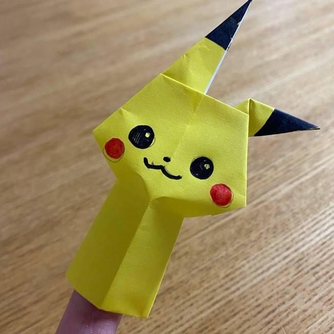 ピカチュウの指人形を折り紙で★子供でも簡単な折り方作り方を紹介!