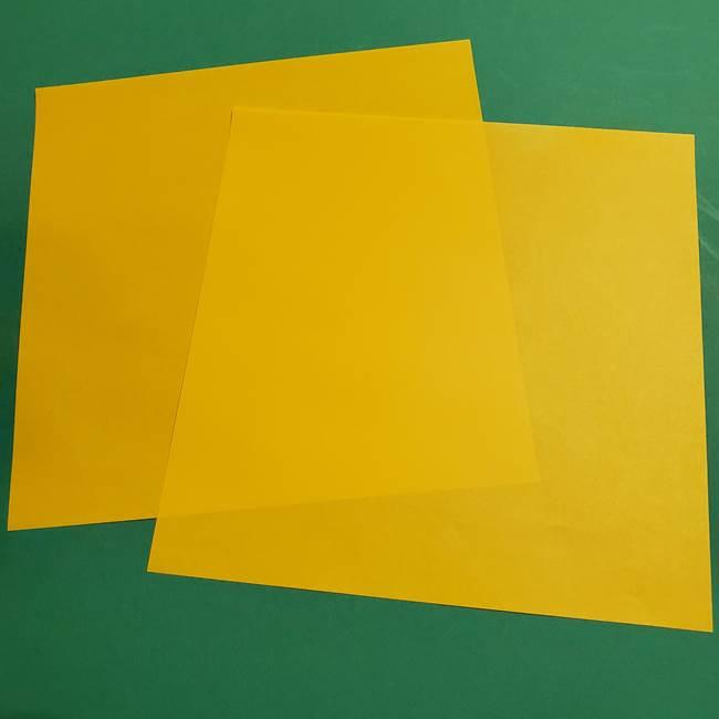 ポケモンの折り紙ミミッキュ*材料と道具(1)