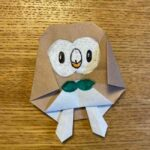 ポケモンの折り紙モクローの折り方は簡単☆幼児でも作れるかわいいポケットモンスター
