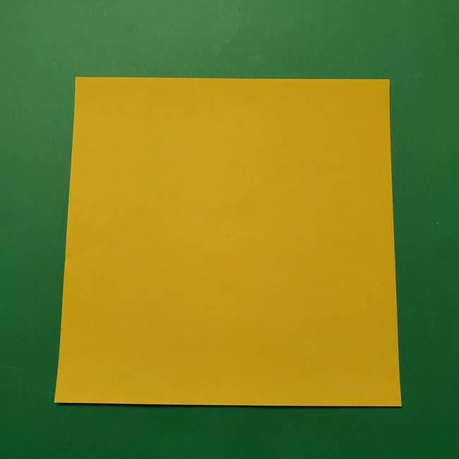 ポケモンの折り紙 サルノリ*用意するもの(1)