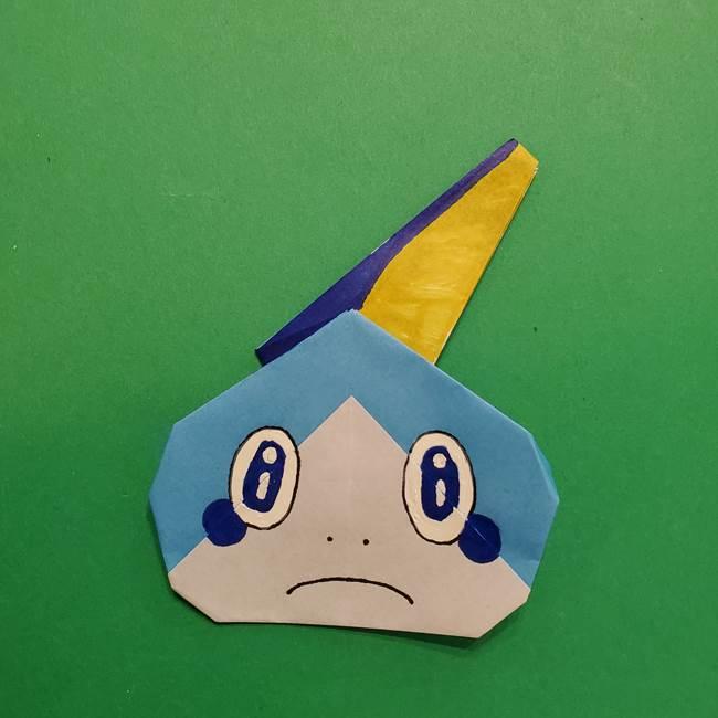 ポケモンの折り紙 メッソンの折り方・作り方(21)