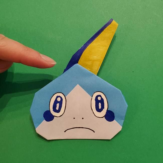 ポケモンの折り紙 メッソンの折り方・作り方(22)