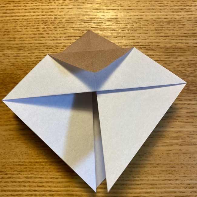 ポケモンの折り紙 モクローの折り方作り方 (11)