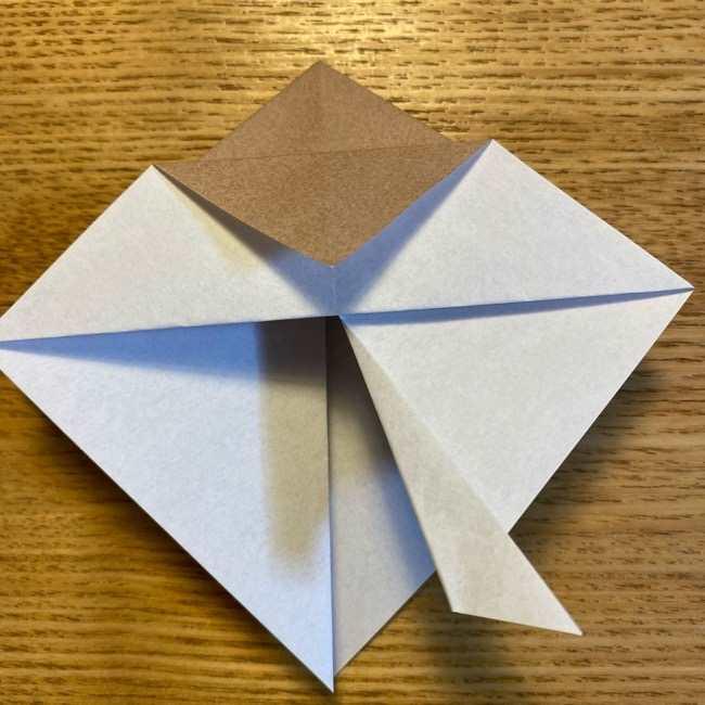 ポケモンの折り紙 モクローの折り方作り方 (12)