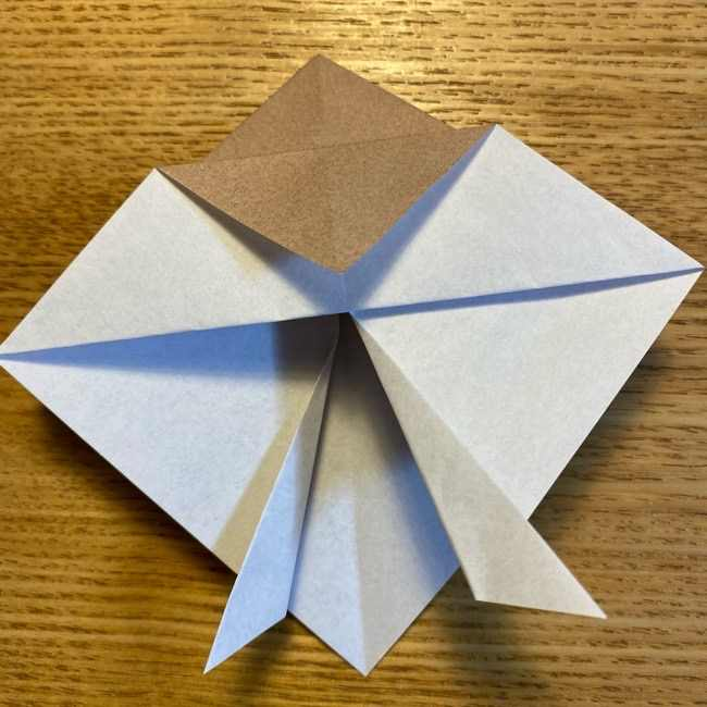 ポケモンの折り紙 モクローの折り方作り方 (13)