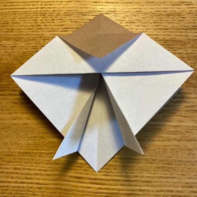 ポケモンの折り紙 モクローの折り方作り方 (14)