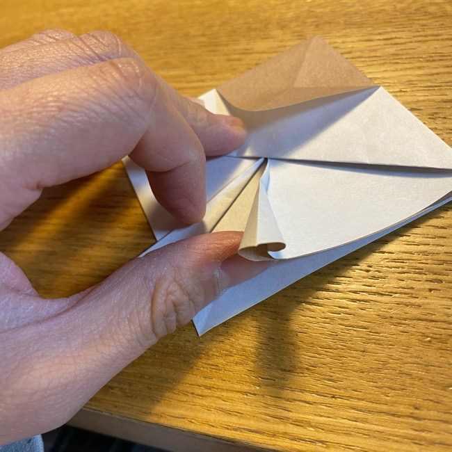 ポケモンの折り紙 モクローの折り方作り方 (15)
