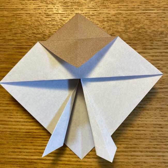 ポケモンの折り紙 モクローの折り方作り方 (16)
