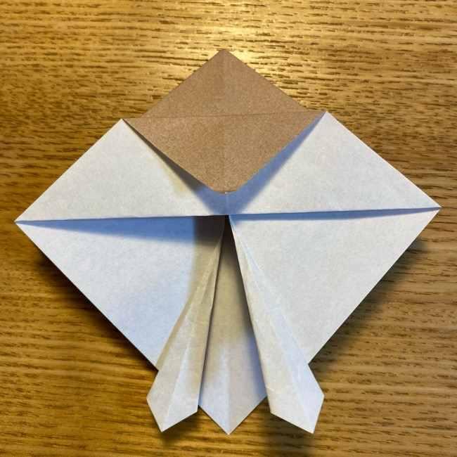 ポケモンの折り紙 モクローの折り方作り方 (17)