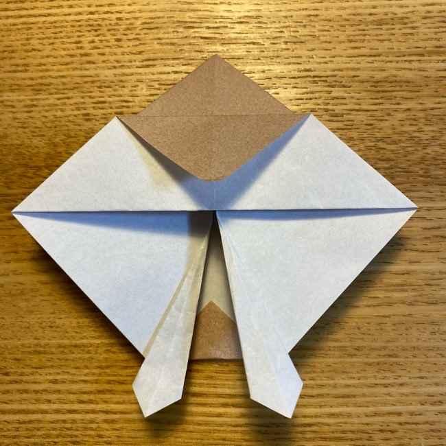 ポケモンの折り紙 モクローの折り方作り方 (18)