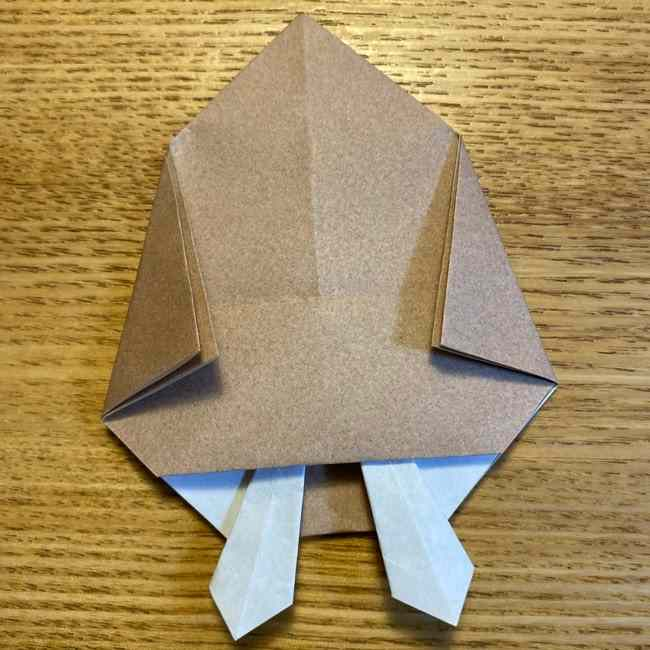 ポケモンの折り紙 モクローの折り方作り方 (21)
