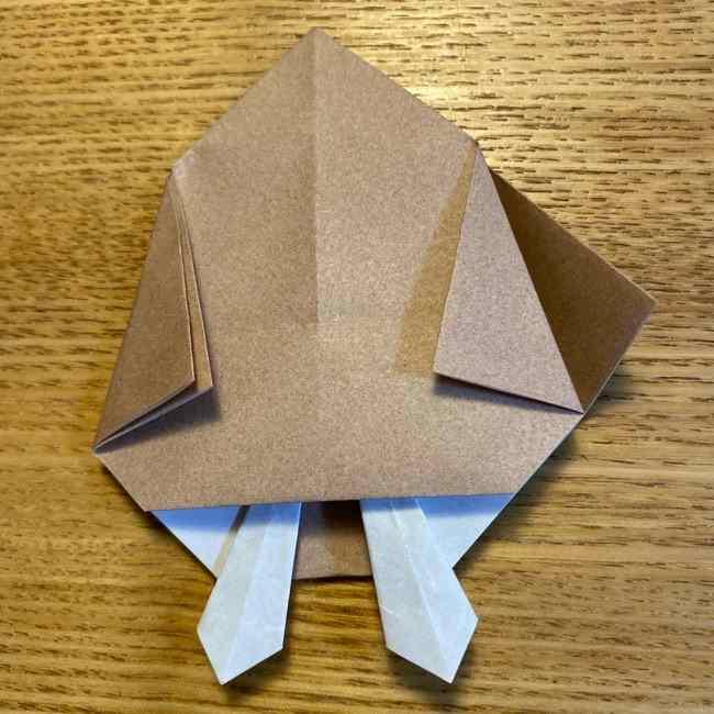 ポケモンの折り紙 モクローの折り方作り方 (22)