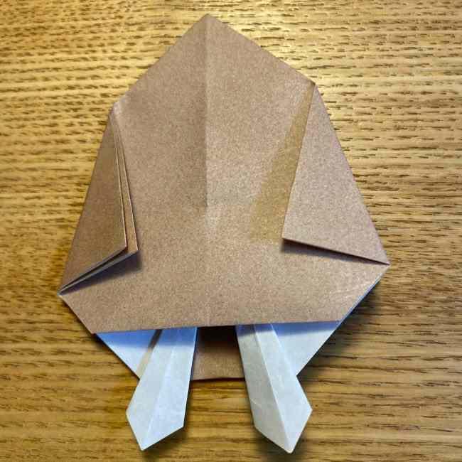 ポケモンの折り紙 モクローの折り方作り方 (24)