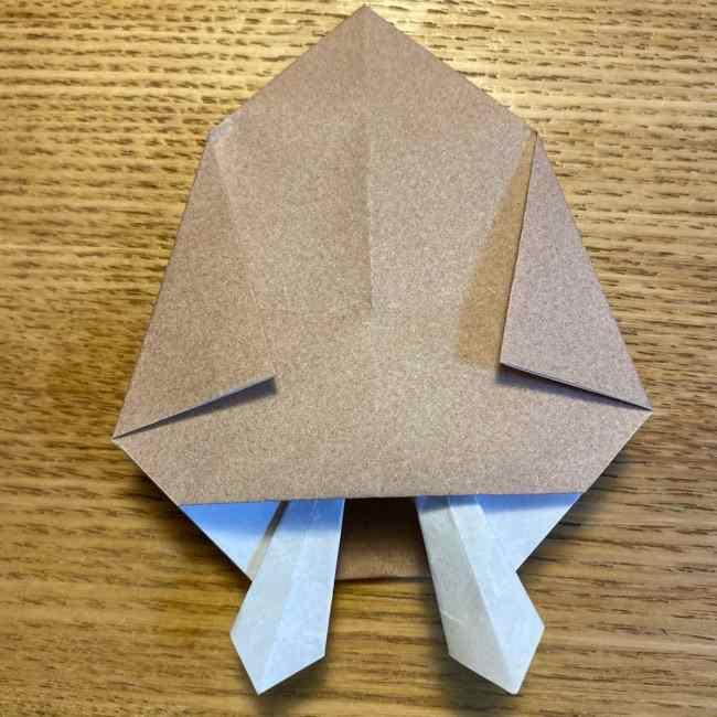 ポケモンの折り紙 モクローの折り方作り方 (25)