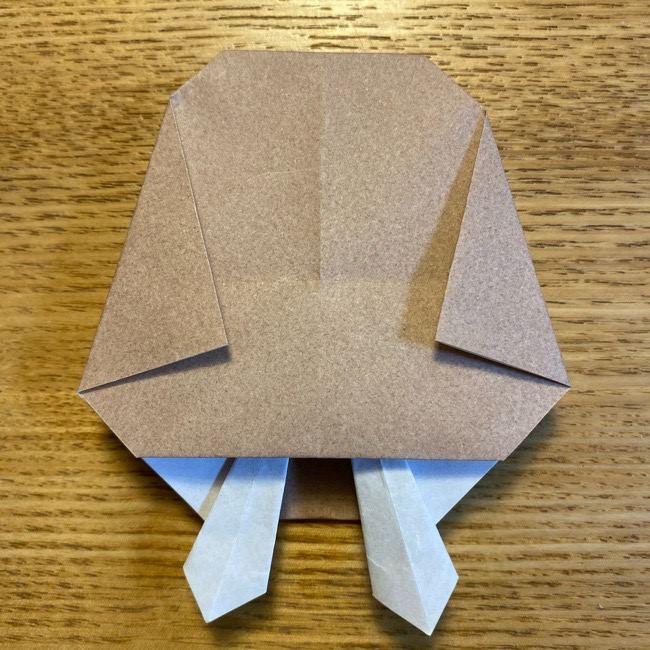 ポケモンの折り紙 モクローの折り方作り方 (26)