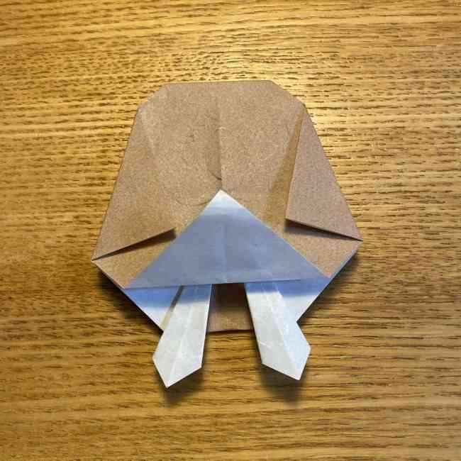 ポケモンの折り紙 モクローの折り方作り方 (27)
