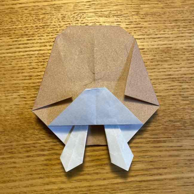 ポケモンの折り紙 モクローの折り方作り方 (28)