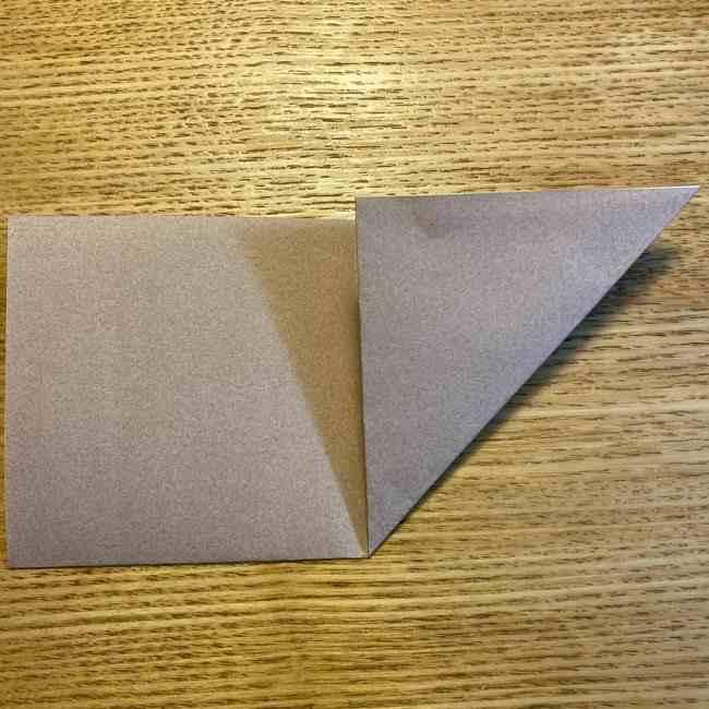 ポケモンの折り紙 モクローの折り方作り方 (4)