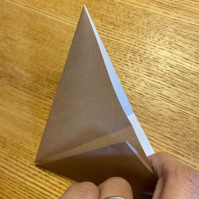 ポケモンの折り紙 モクローの折り方作り方 (7)