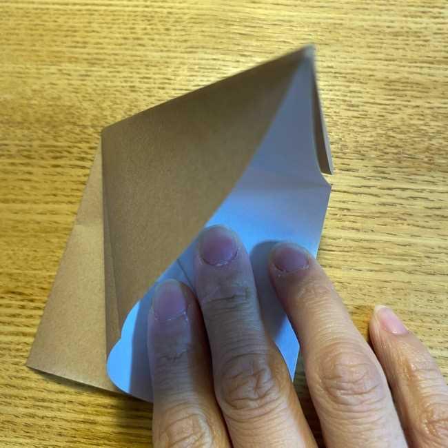 ポケモンの折り紙 モクローの折り方作り方 (8)