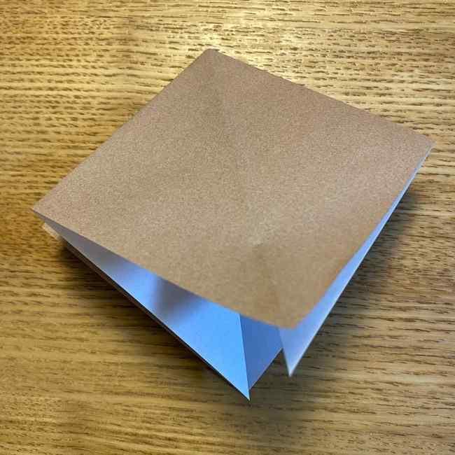 ポケモンの折り紙 モクローの折り方作り方 (9)