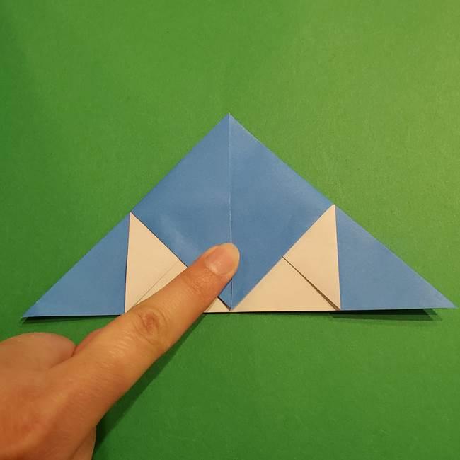 ポケモンの折り紙 リオルの折り方作り方(15)