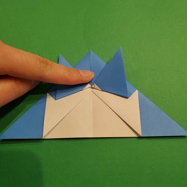 ポケモンの折り紙 リオルの折り方作り方(16)
