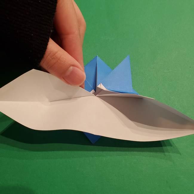ポケモンの折り紙 リオルの折り方作り方(17)