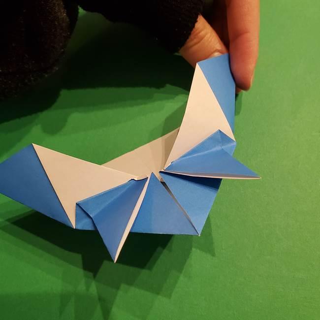 ポケモンの折り紙 リオルの折り方作り方(18)