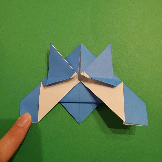 ポケモンの折り紙 リオルの折り方作り方(21)