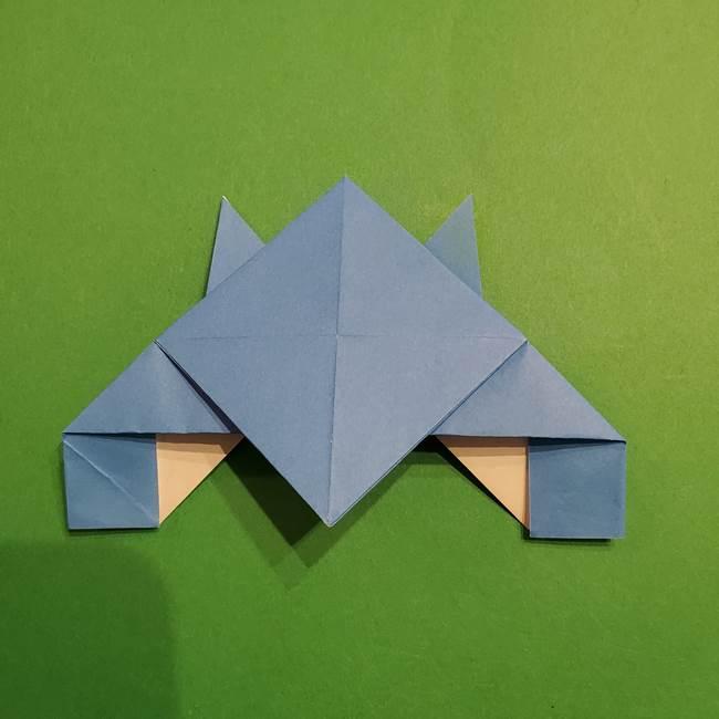 ポケモンの折り紙 リオルの折り方作り方(22)