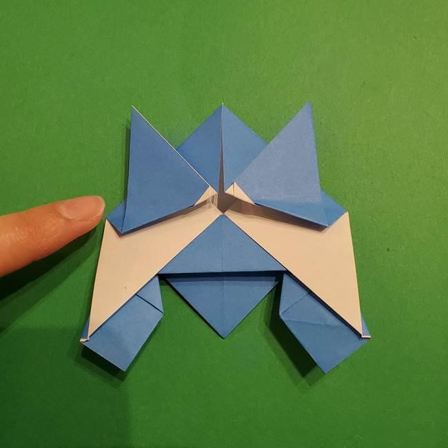 ポケモンの折り紙 リオルの折り方作り方(28)