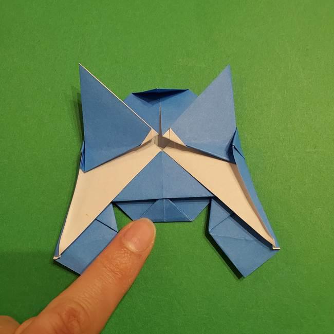 ポケモンの折り紙 リオルの折り方作り方(31)
