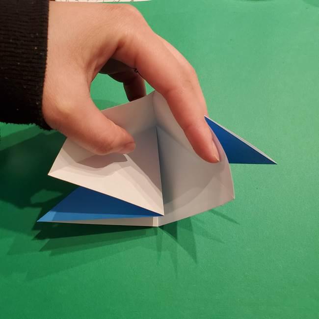 ポケモンの折り紙 リオルの折り方作り方(9)