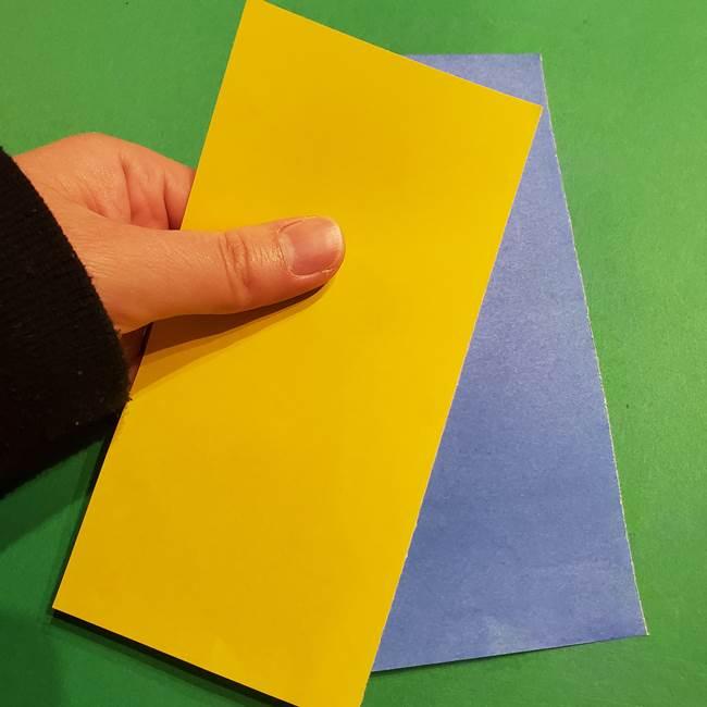 ミニオンの折り紙 折り方(平面)1(1)