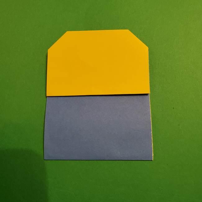ミニオンの折り紙 折り方(平面)1(10)