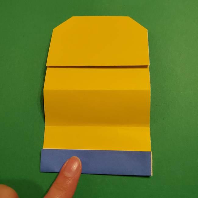 ミニオンの折り紙 折り方(平面)1(12)