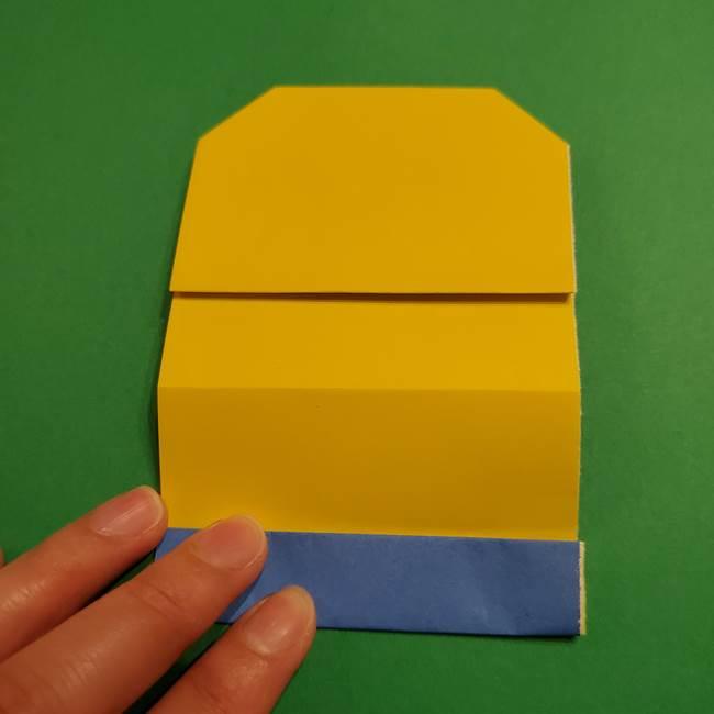 ミニオンの折り紙 折り方(平面)1(13)