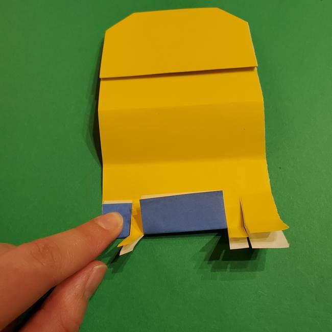 ミニオンの折り紙 折り方(平面)1(19)