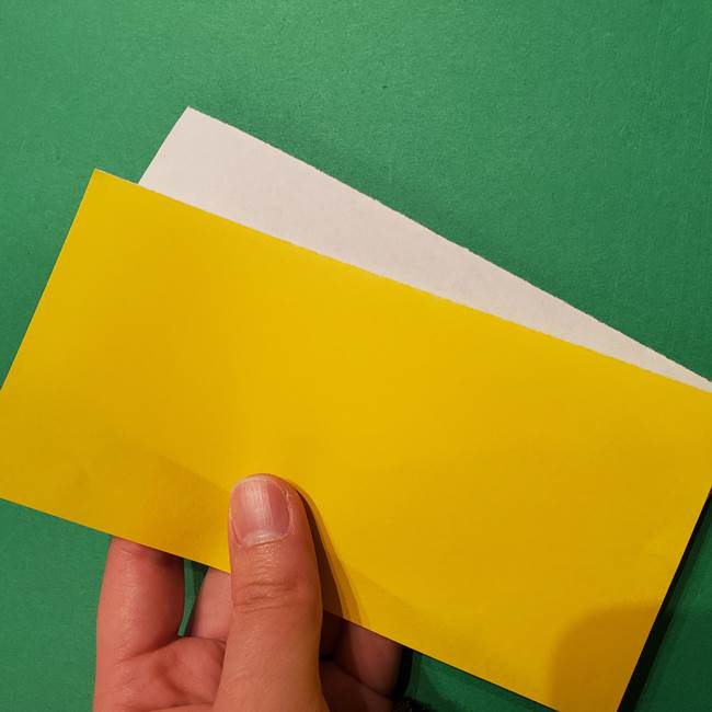 ミニオンの折り紙 折り方(平面)1(2)