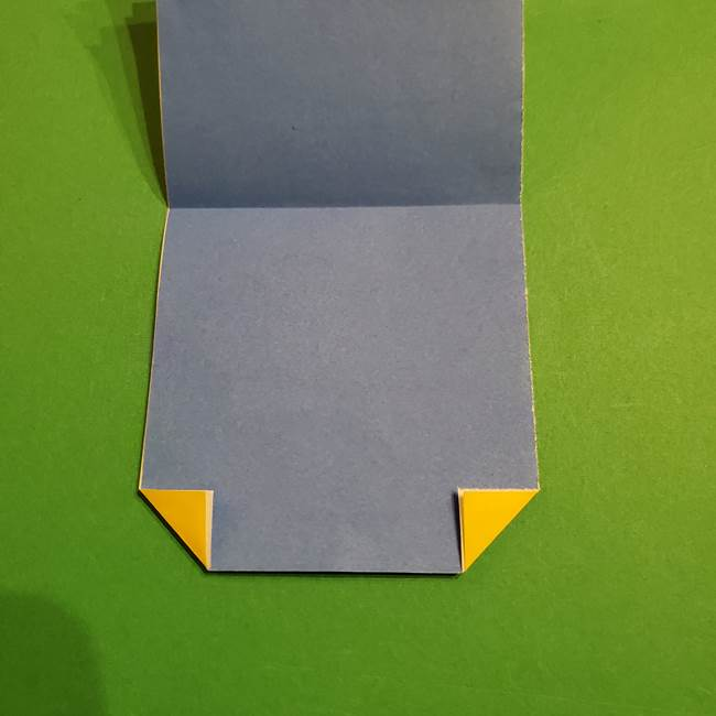 ミニオンの折り紙 折り方(平面)1(5)