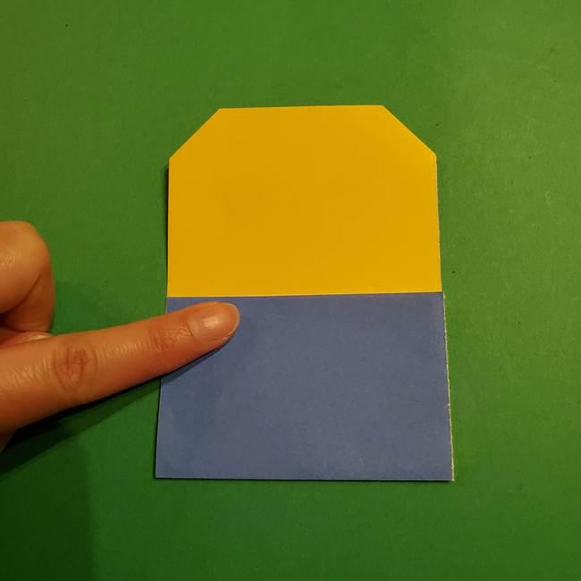 ミニオンの折り紙 折り方(平面)1(7)