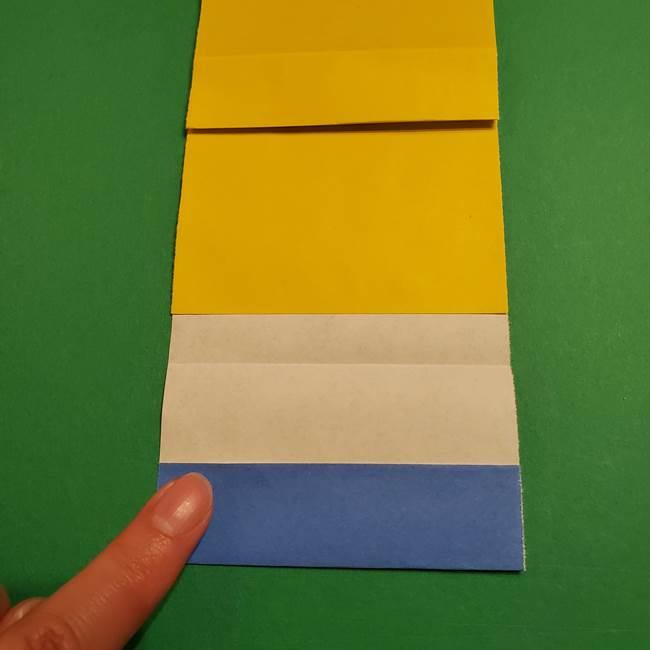 ミニオンの折り紙 折り方(平面)2(11)